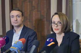 Václav Strnad et Adriana Krnáčová, photo: ČTK