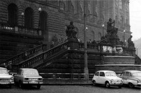 Le lieu devant le Musée national où Jan Palach s'est immolé par le feu, photo: Archives d'ABS