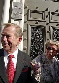 Vaclav Havel et Ivana Tigrid, photo: CTK