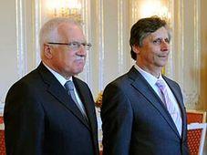 Václav Klaus (vlevo) a Jan Fischer, foto: ČTK