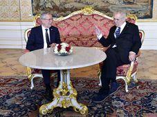 Alexander Van der Bellen und Miloš Zeman (Foto: ČTK)