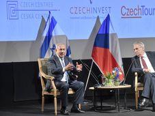 Miloš Zeman avec Benjamin Netanyahou (à gauche), photo: ČTK/Šimánek Vít