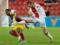 Slavia Prague - Dukla Prague - Emmanuel Edmond, Michael Lüfter, photo: CTK