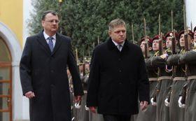 Petr Nečas, Robert Fico, photo: CTK