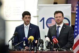 Paul Ryan, Radek Vondráček, photo: CTK