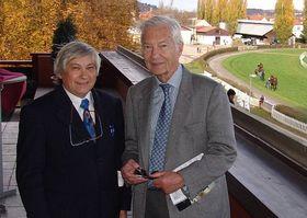 Jan Zágler et l'ancien jockey Lester Piggott