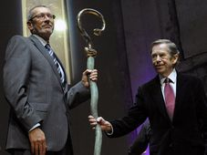 Konrad Paul Liessmann et Václav Havel, photo: CTK