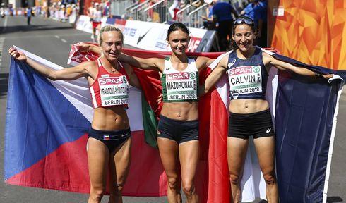 Eva Vrabcová-Nývltová (a la iquierda), Foto: ČTK/imago sportfotodienst/BEAUTIFUL SPORTS/Axel Kohring
