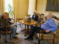 Tschechischer Rundfunk bei Miloš Zeman zu Gast (Foto: Khalil Baalbaki, Archiv des Tschechischen Rundfunks)