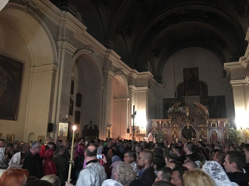 Пасха в соборе свв. Кирилла и Мефодия в 2019 г., фото: Катерина Айзпурвит