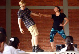 Václav Wortner e Isabel Mendoza durante la representación, foto: Tamara Allina