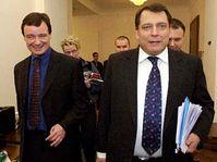 Ministr zdravotnictví David Rath (vlevo) a premiér Jiří Paroubek, foto: ČTK