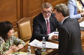 Андрей Бабиш в Палате депутатов, фото: ЧТК