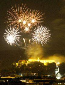 Fiesta del ingreso en Brno a la UE, foto: CTK