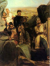 Ярослав Чермак: Гуситы, защищающие ущелье (1857 год)