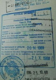 Österreichisches Visum 1968