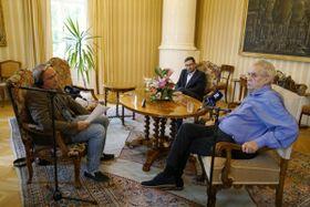 Интервью Милоша Земана с Яном Покорным, Фото: Халил Баалбаки, Чешское радио