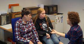 Ирина Идиатулина и Анна Кочергина на Радио Прага, Фото: Милош Турек, Чешское радио - Радио Прага