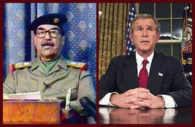 Saddam Hussein, George Bush, foto: CTK