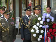 The remembrance ceremony in front of the Czech Radio building, photo: Jiří Němec