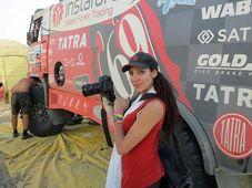 Olga Lounová, 2013, Rally Dakar, foto: Jan Říha, Radiodifusión Checa