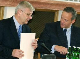 Joschka Fischer and Cyril Svoboda, photo: CTK