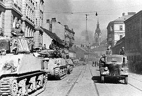 Příchod Sovětské armády do Brna 26.dubna 1945, foto: ČTK