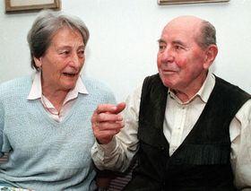 Dana Zatopkova et Emil Zatopek (Photo: CTK)