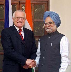 Vaclav Klaus and Prime Minister Manmohan Singh, photo: CTK