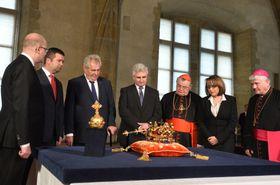 Les joyaux de la couronne tchèque, photo: ČTK