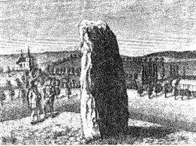 Menhir el Pastor Petrificado de Klobuky