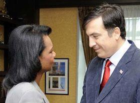 Condoleezza Rice and Michail Saakasvili, photo: CTK