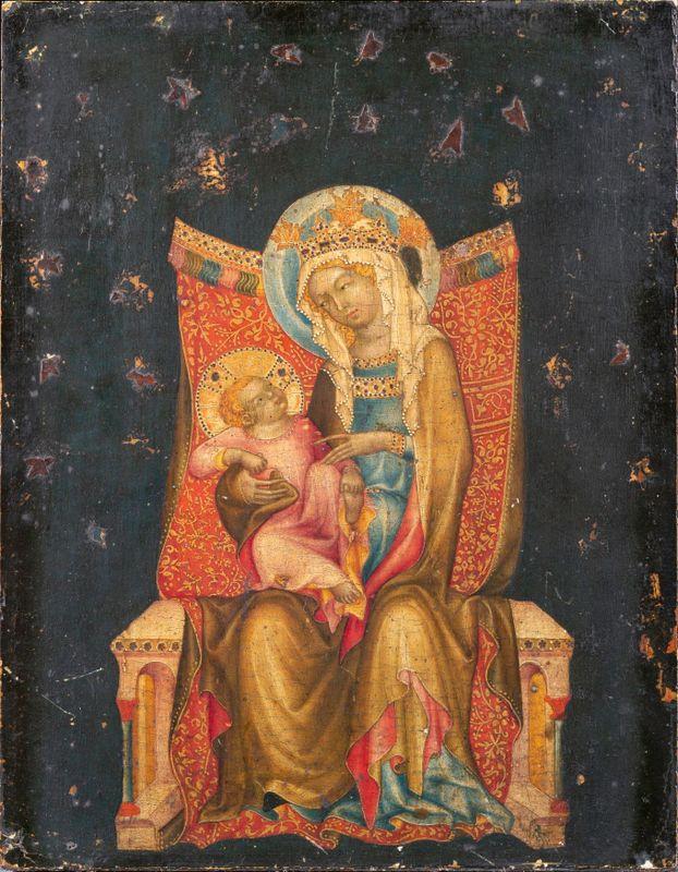 «Мадонна с младенцем на троне», фото: Národní galerie v Praze