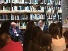 Presentación novela 'Sinfonía de Praga', foto: Melissa Castaño
