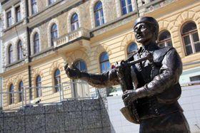 Bagpiper statue in Strakonice, photo: Barbora Němcová