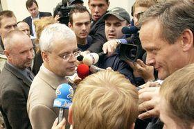 De la derecha: Cyril Svoboda, Vladimír Spidla y Petr Mare¹, foto: CTK