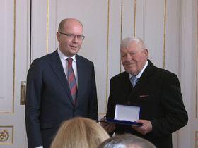 Bohuslav Sobotka, Miroslav Kusý, photo: Dominik Jůn