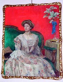 Portrét Sidonie Nádherné od Maxe Švabinského