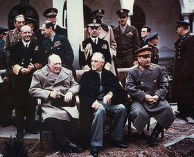 Уинстон Черчилль, Франклин Рузвельт, Иосиф Сталин, фото: открытый источник