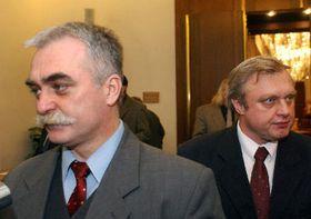 Milan Urban y Miloslav Ransdorf, foto: CTK