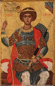 Св. Георгий, коронованный на троне (16/17 век)