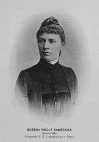 Božena Viková Kunětická (Foto: Jan Nepomuk Langhans, Wikimedia Commons, CC0)