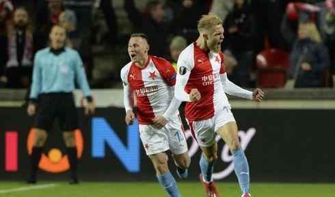 Slavia Praha vyřadila v osmifinále Evropské ligy silný klub ze Sevilly, foto: ČTK / Kateřina Šulová