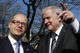 Bohuslav Sobotka y Horst Seehofer, foto: ČTK