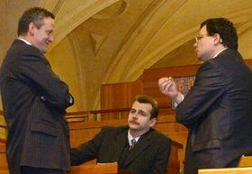 Cyril Svoboda, Jaroslav Tvrdik, alexander Vondra, foto: CTK