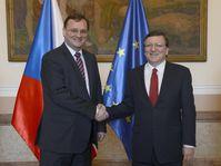 Petr Nečas et José Manuel Barroso, photo: CTK