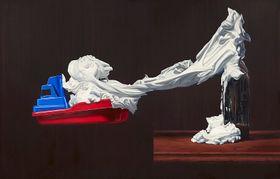 Hynek Martinec: He Came Here to Paint This Picture, 2015, olej, slaskavým svolením Parafin Londýn aAdolf Loos Apartment and Gallery Praha