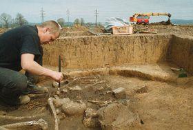 Archeological locality at Otrokovice, photo: CTK