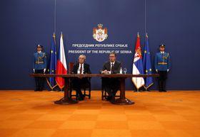Miloš Zeman et Aleksandar Vučić, photo: ČTK/AP/Darko Vojinovic