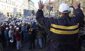 Protestní demonstrace, foto ČTK